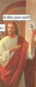 Jesus doing magic tricks