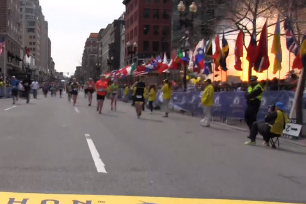 Boston Marathon bombing-flags