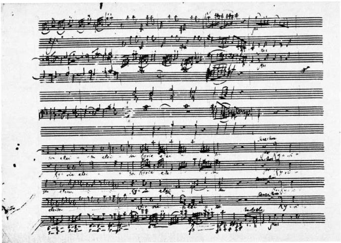The score of Mozart's Mass in C Minor