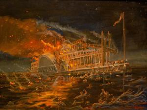 The Sultana ablaze