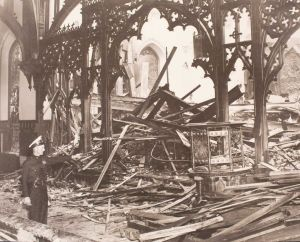 The aftermath of the 1938 fire