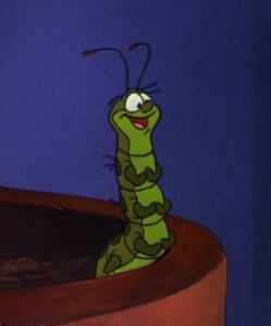 Squeaks the Caterpillar (pre chrysalis) from The Fox and the Hound