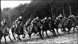 When the war began, men still charged into battle with sabers on horseback...