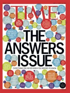 TIME answers issue