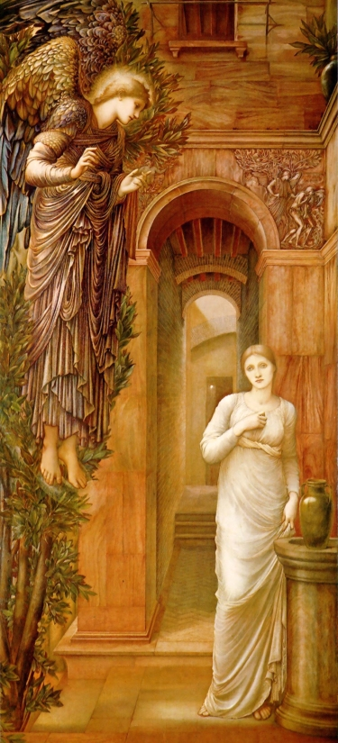 Edward Burne-Jones rendering of the Annunciation
