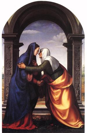Mariotto Albertinelli's depiction of the meeting between Mary and Elizabeth.