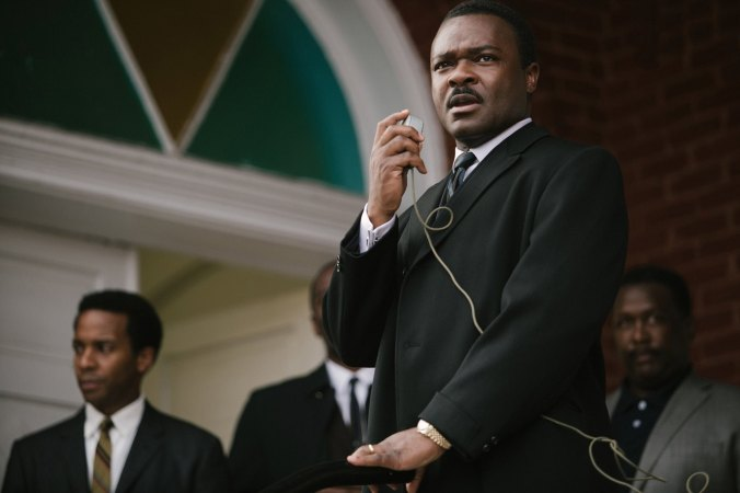 "David Oyelowo portraying Dr. Martin Luther King, Jr. in the film ""Selma."""