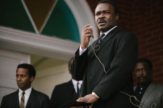 "David Oyelowo portraying Dr. Martin Luther King, Jr. in the film ""Selma."""