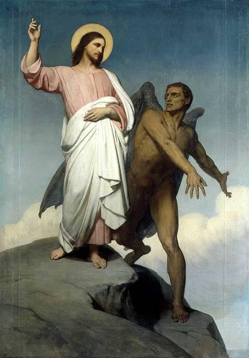 """Ary Scheffer's """"Temptation of Christ,"""" 1854"""