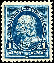 Early American postage stamp