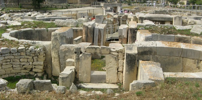 The ancient Tarxien Temples in Malta