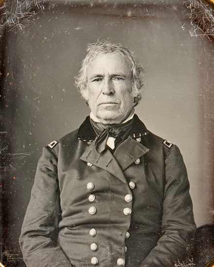 Zachary Taylor,  who almost missed his presidential nomination.