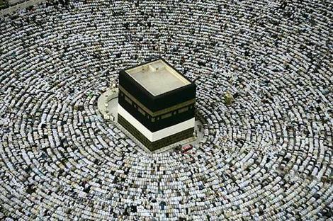 Muslim pilgrims at the Kaaba