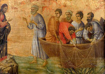 Peter fishing after resurrection