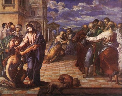 Jesus healing blind man