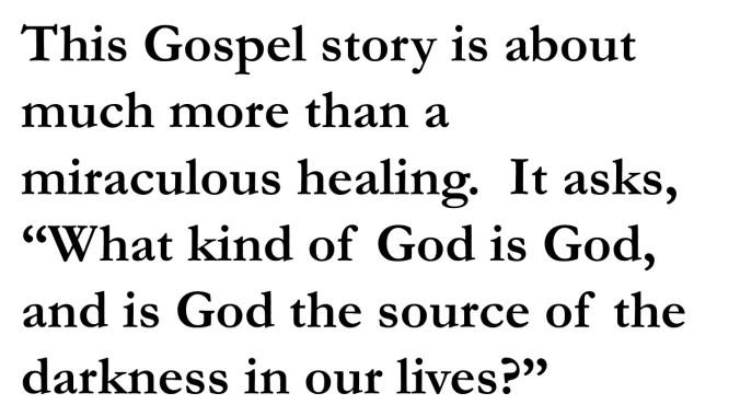 What kind of God is God