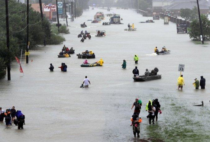 Flood evacuees