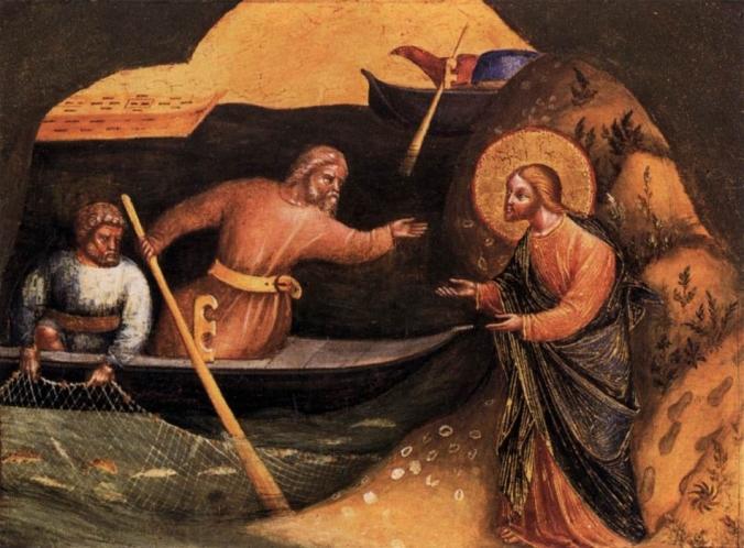 Jesus calls Simon and Andrew