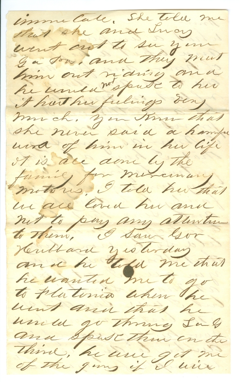 I. G. Killough letter to Eliza Faires, June 19, 1878, p. 4