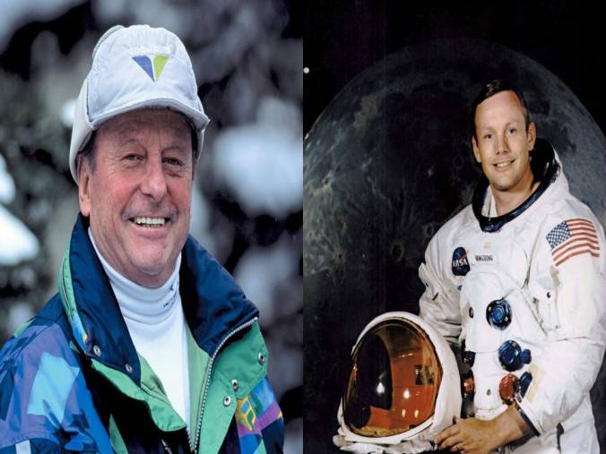 Dick Bass and Neil Armstrong